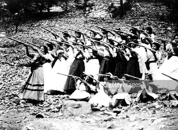 Female soldiers known as 'Las Adelitas' during the Mexican Revolution Mexico Washington Library of Congress