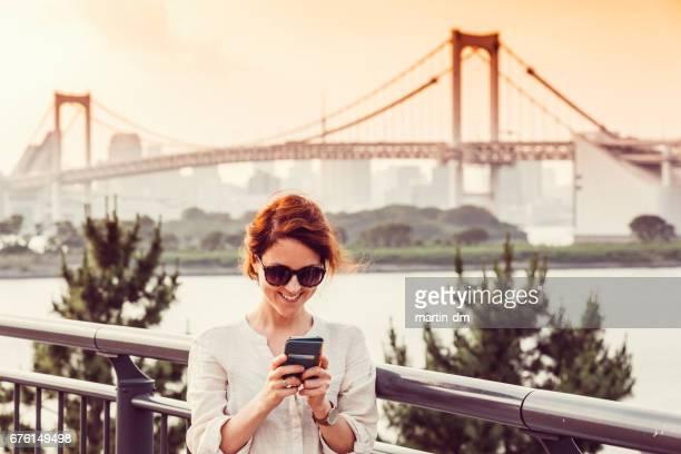 Female solo traveler in Tokyo
