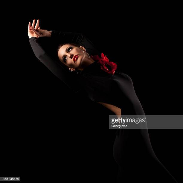 female spanish dancer - flamenco dancing stock photos and pictures