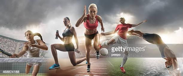 feminino estrelas de esportes e de ação - sports - fotografias e filmes do acervo