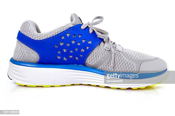 Female sports shoe with blue accents