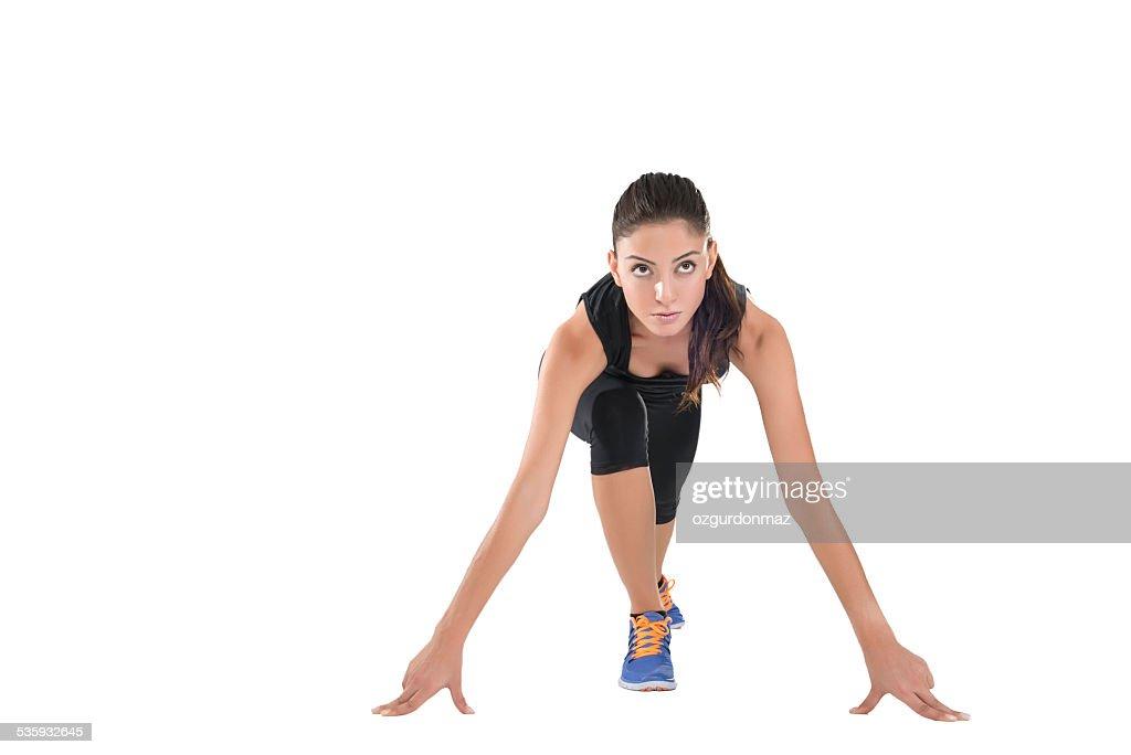 Female sprinter : Stock Photo