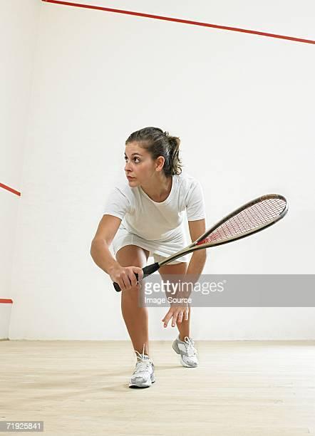 Female squash player
