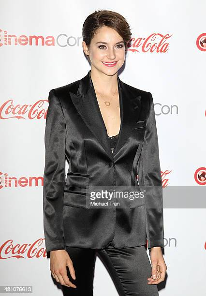 Female Star of Tomorrow award winner actress Shailene Woodley attends The CinemaCon Big Screen Achievement Awards at Cinemacon 2014 Day 4 held at The...