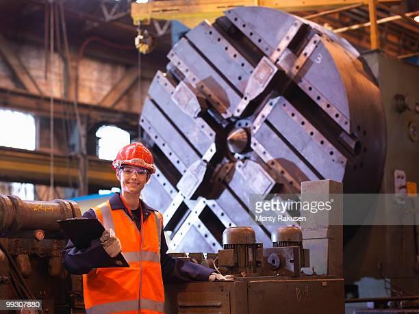 Female Steel Engineer In Factory