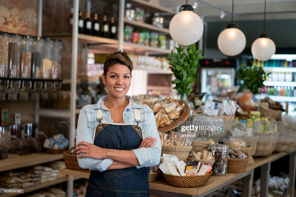Female store business owner : Stock Photo