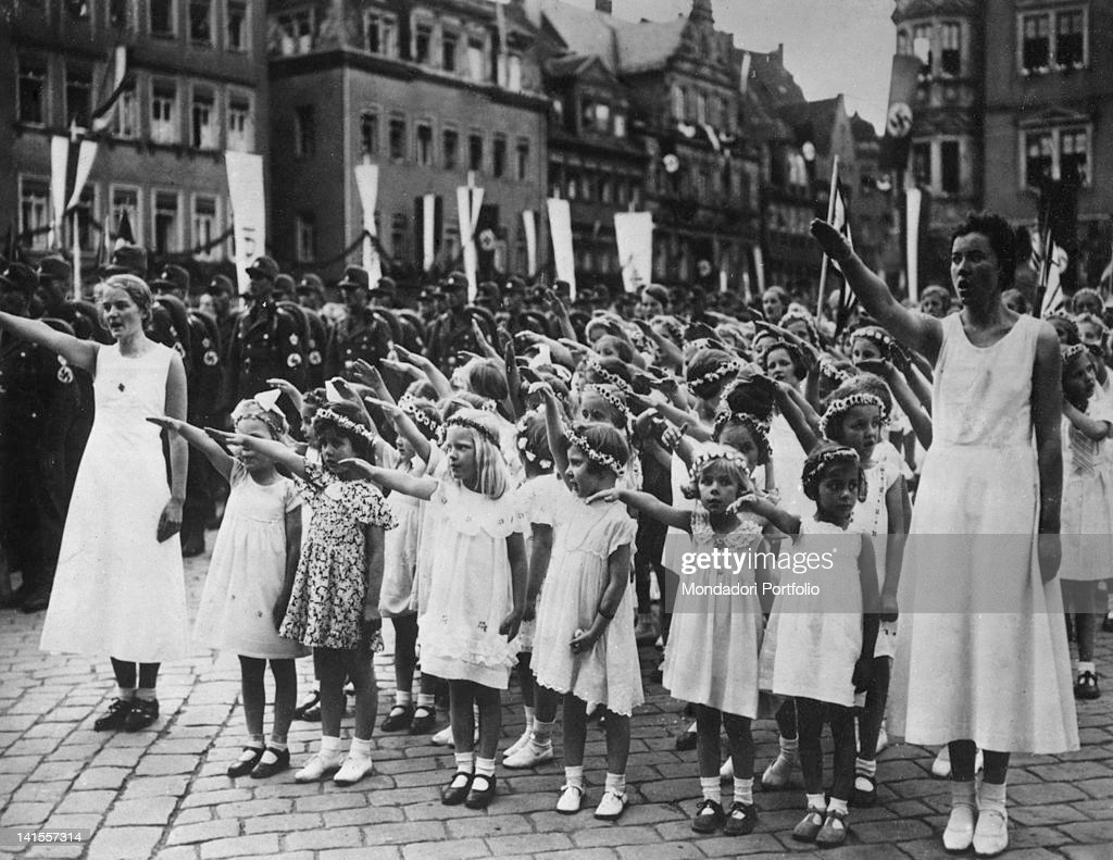 Military Parade Of Nazi Assault Teams : News Photo