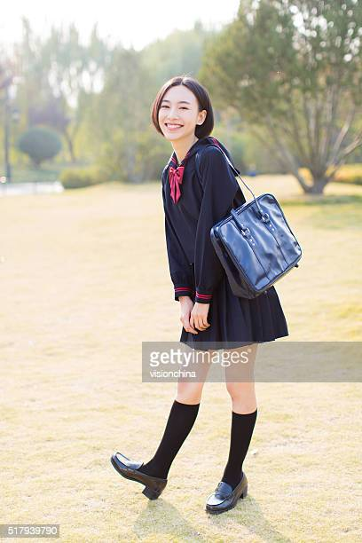 female student in the park