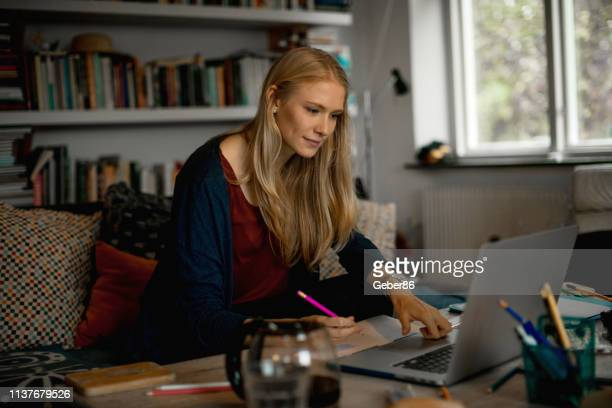 female student - northern european descent stock pictures, royalty-free photos & images