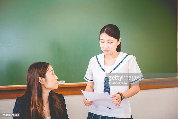 Female Student Unhappy about Exam Results, Hong Kong, China, Asia