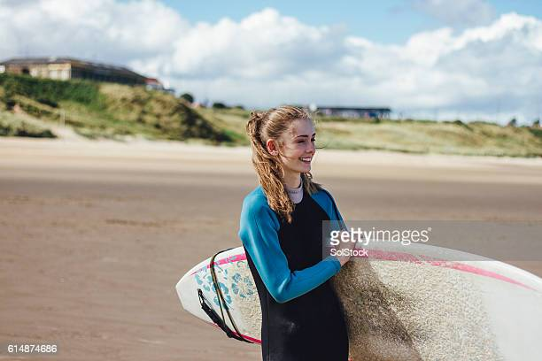 Female Surfer Smiling