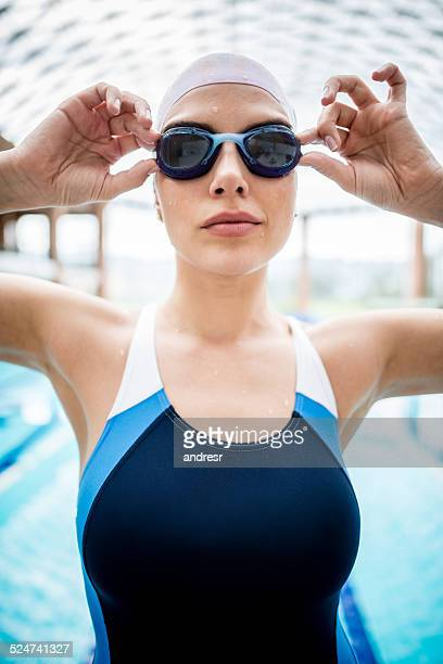 Female swimmer at the pool