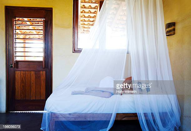 female taking a nap. - see thru nightgown stock photos and pictures