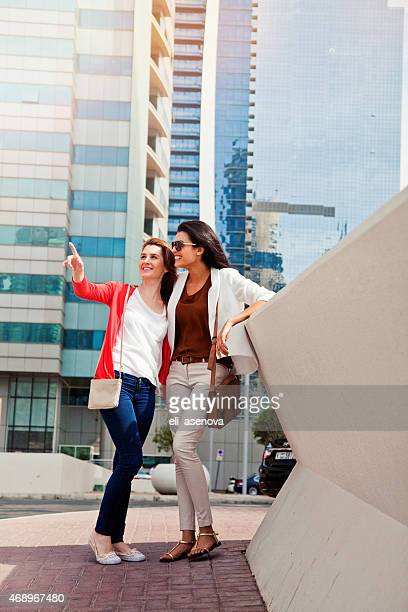 Female Talking Each Other in Dubai.