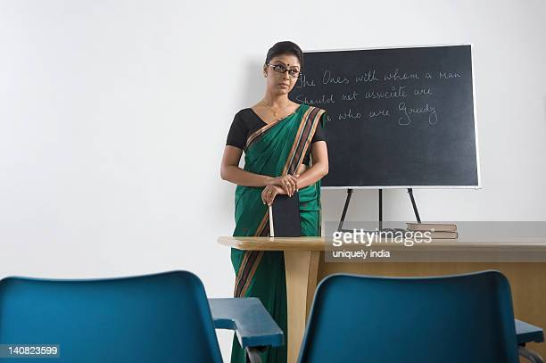 Female teacher in a classroom