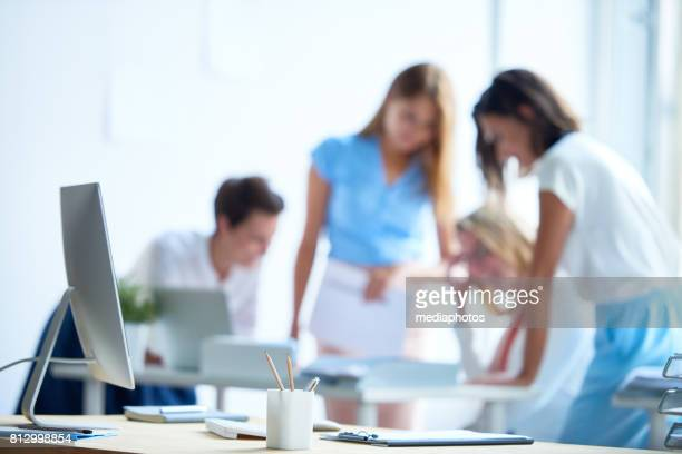 Female Team Working in Office