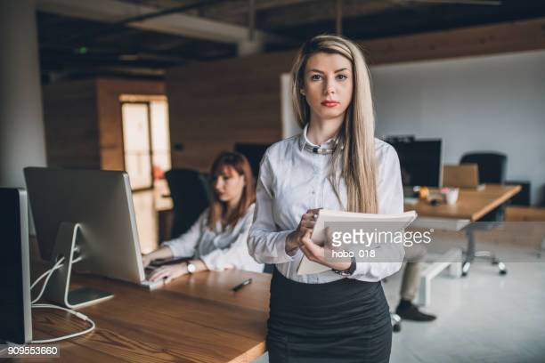 Female teamleader in creative office