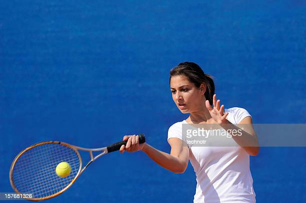 Female tennis player at forehand
