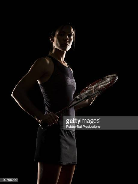 Femme de joueur de tennis