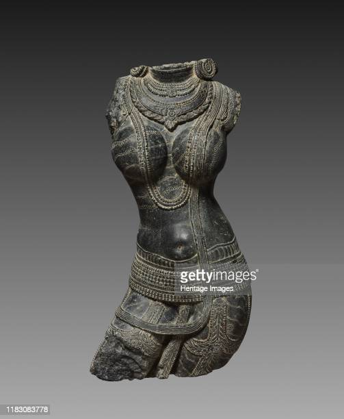 Female torso 1000s This lifesize sculpture of a female figure was likely installed by a doorway or in an exterior niche of a Buddhist temple...