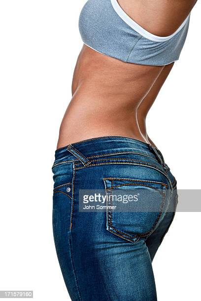 female torso - big bums stock photos and pictures