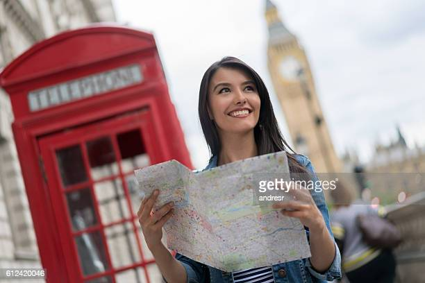 Female tourist in London