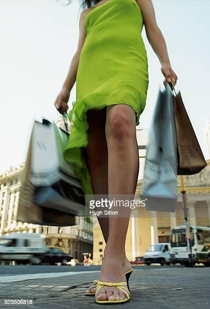 female tourist with shopping bags, plaza de mayo, buenos aires, argentina - hugh sitton bildbanksfoton och bilder