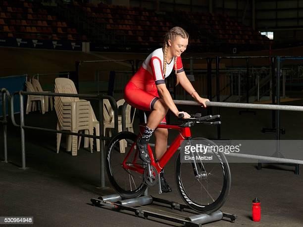 female track cyclist