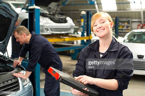 female trainee mechanic