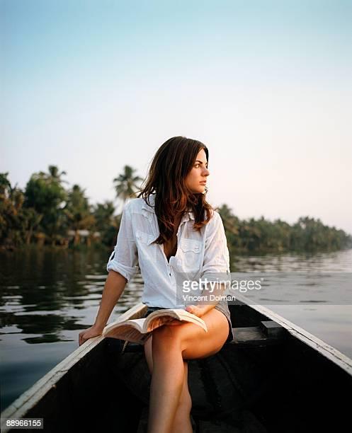 Female traveller in Asia.