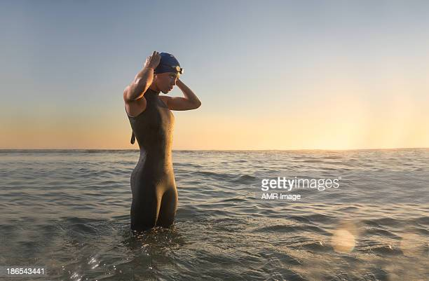 Female Triathlon Athlete at Sunrise