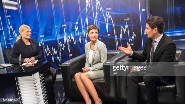 Female TV journalist
