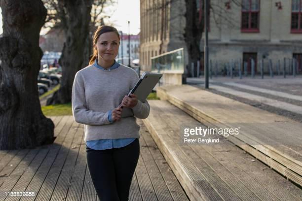 A female university student