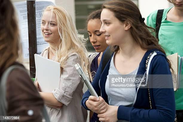 Female university students walking