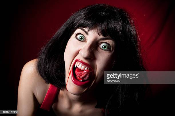 female vampire - human blood stock pictures, royalty-free photos & images