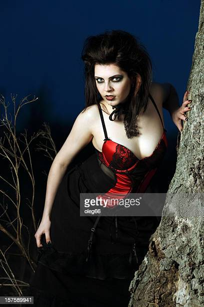 female vampire - victorian erotica stock photos and pictures