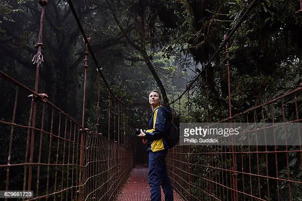 Female Videographer Exploring On Jungle Adventure