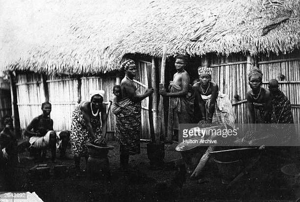 Female villagers of the African Ashanti tribe. Britain annexed the Ashanti kingdom in 1901.