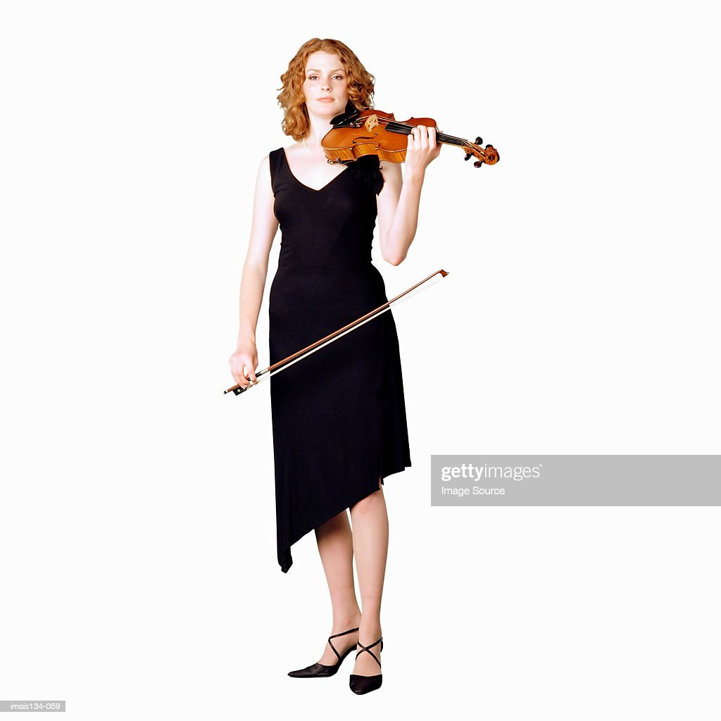 Female violinist : Stock Photo