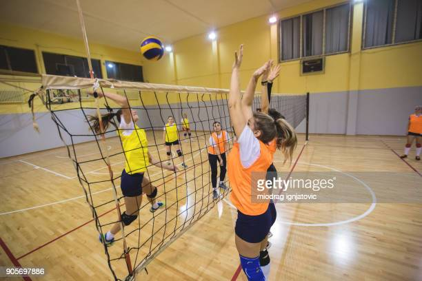 Female volleyball defence