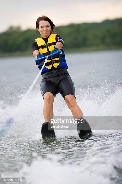 Female water Skier