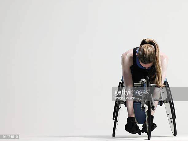Female wheelchair athlete