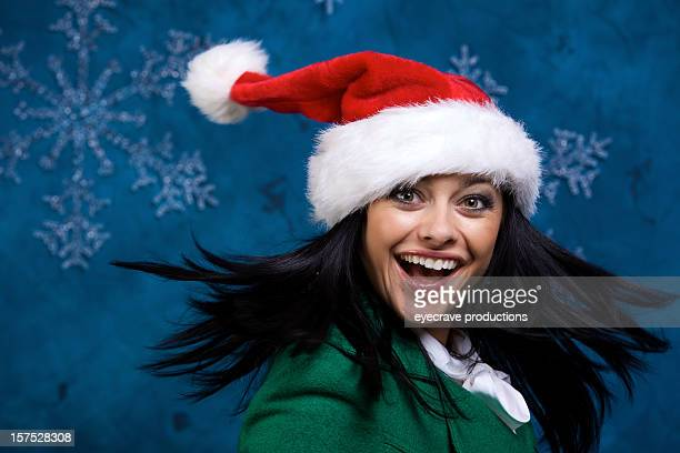 female winter holiday portraits