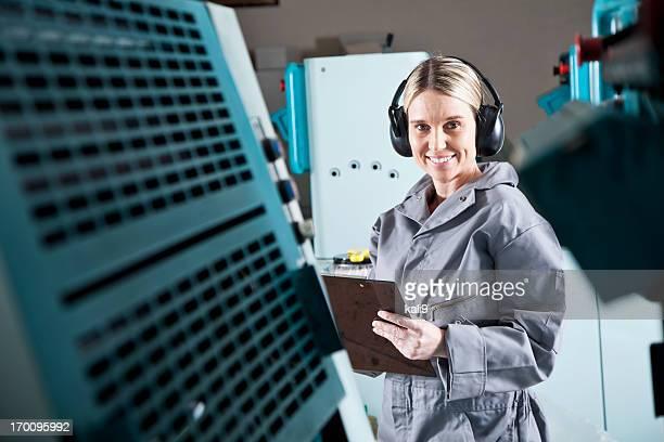Weiblichen Arbeiter in Druckerei