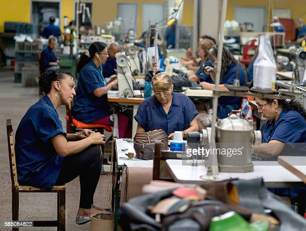 Female workers at a factory