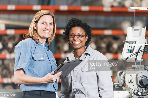 Female workers in factory