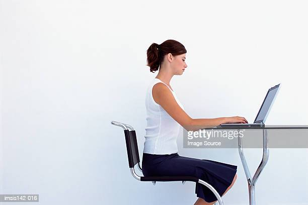 Female working on laptop