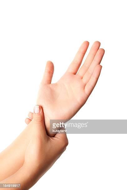 Blessure femme poignet