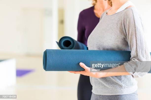 Vrouwtjes na yoga training sessie