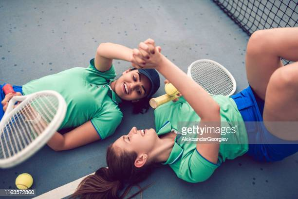 Females Happy After A Tennis Match